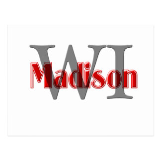 madison wi red postcard