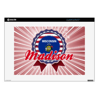 """Madison, WI Decal For 15"""" Laptop"""