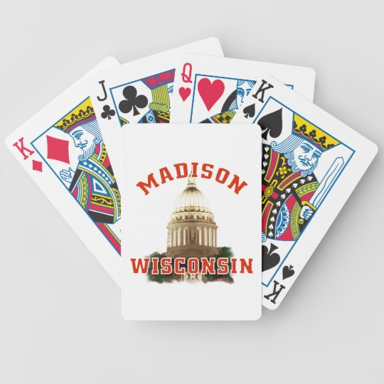 Madison,Wisconsin Bicycle Playing Cards