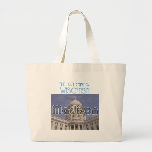 Madison Wisconsin Canvas Bags