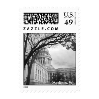 Madison Wisconsin Capitol Building Stamp