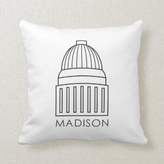 Madison Wisconsin Capitol Building Throw Pillow