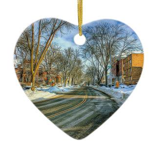Madison, Wisconsin Cheese Head Christmas Keepsake Ceramic Ornament