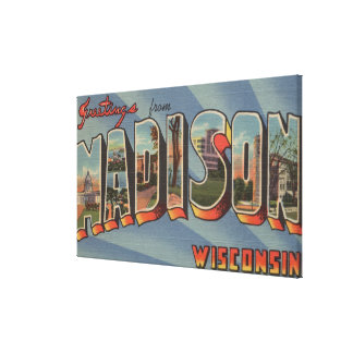 Madison, Wisconsin - escenas grandes de la letra Lona Estirada Galerías
