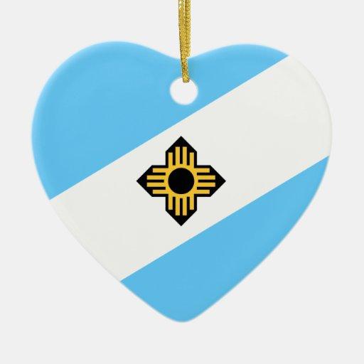 Madison Wisconsin, Estados Unidos Adorno Navideño De Cerámica En Forma De Corazón
