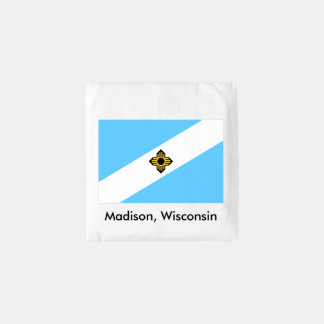 Madison, Wisconsin Flag Reusable Shopping Bag