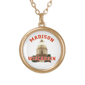 Madison,Wisconsin Gold Plated Necklace
