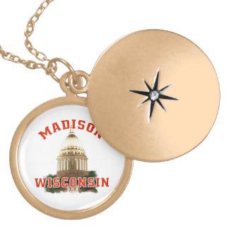 Madison,Wisconsin Locket Necklace