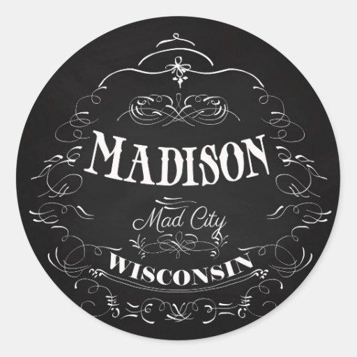 Madison Wisconsin Mad City Stickers Zazzle