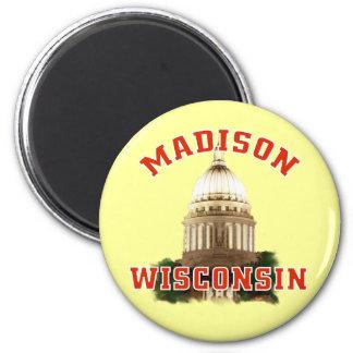 Madison,Wisconsin 2 Inch Round Magnet