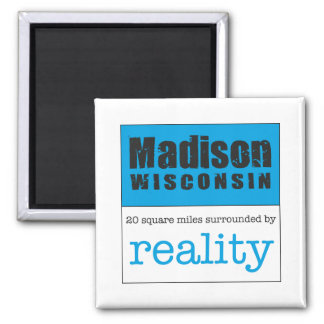 Madison Wisconsin 2 Inch Square Magnet
