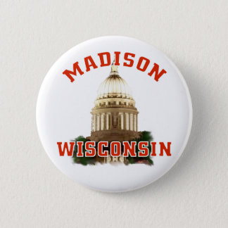 Madison,Wisconsin Pinback Button
