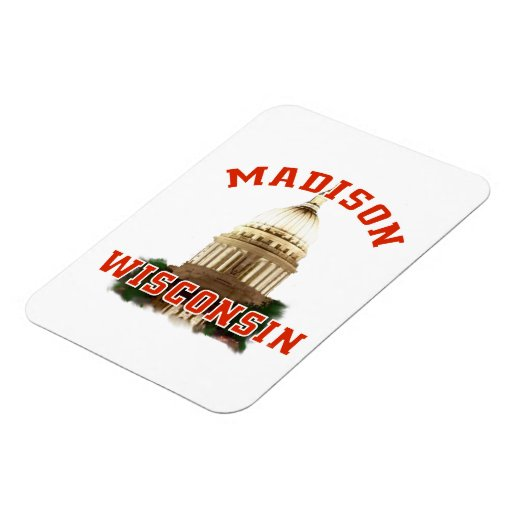 Madison,Wisconsin Rectangular Photo Magnet