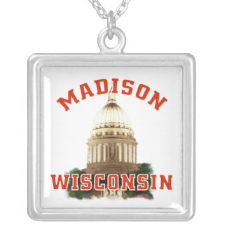 Madison,Wisconsin Silver Plated Necklace