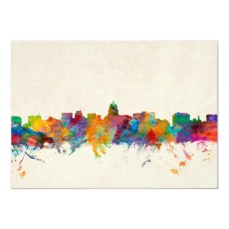 Madison Wisconsin Skyline Cityscape Card