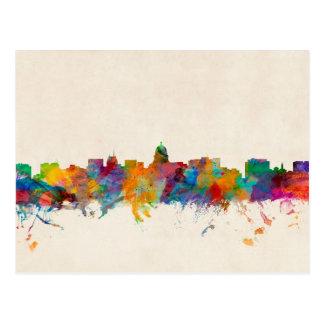 Madison Wisconsin Skyline Cityscape Postcard
