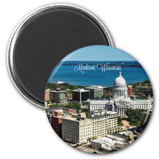 Madison, Wisconsin skyline Magnet