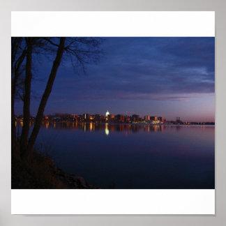 Madison, Wisconsin Skyline Poster