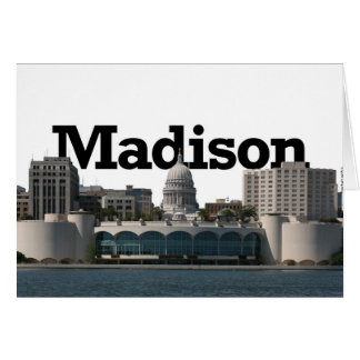 Madison Wisconsin Skyline with Madison in the Sky Card