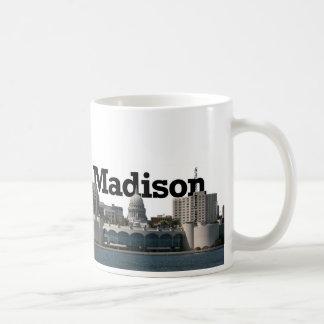 Madison Wisconsin Skyline with Madison in the Sky Coffee Mug