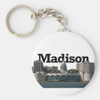 Madison Wisconsin Skyline with Madison in the Sky Keychain