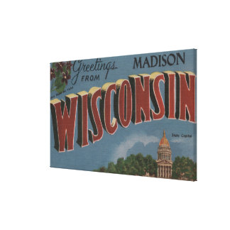 Madison, Wisconsin (State Capital/Flower) Canvas Print