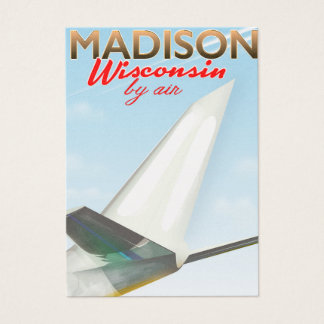 Madison Wisconsin USA Vintage flight poster Business Card