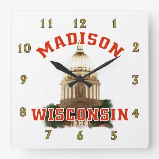 Madison,Wisconsin Wall Clocks