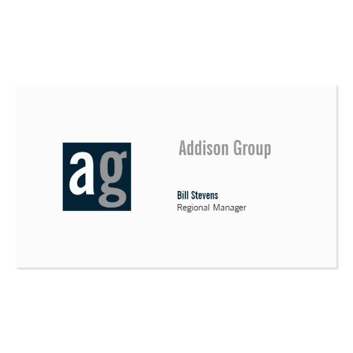 Madison XI Double-Sided Standard Business Cards (Pack Of 100)