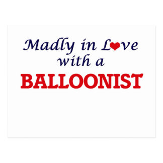 Madly in love with a Balloonist Postcard