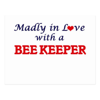 Madly in love with a Bee Keeper Postcard