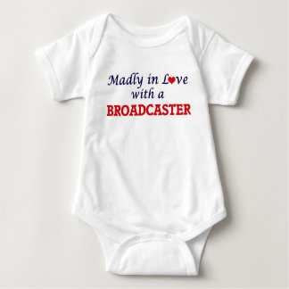 Madly in love with a Broadcaster Baby Bodysuit