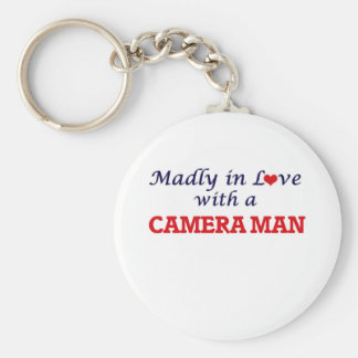 Madly in love with a Camera Man Keychain