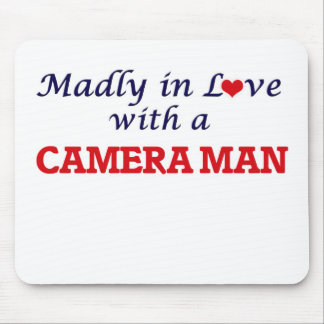 Madly in love with a Camera Man Mouse Pad