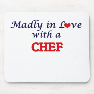 Madly in love with a Chef Mouse Pad