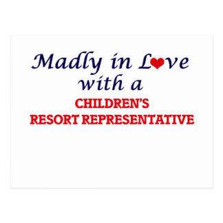 Madly in love with a Children's Resort Representat Postcard