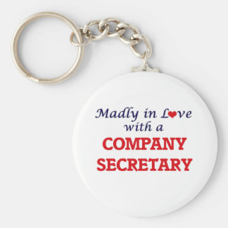 Madly in love with a Company Secretary Keychain
