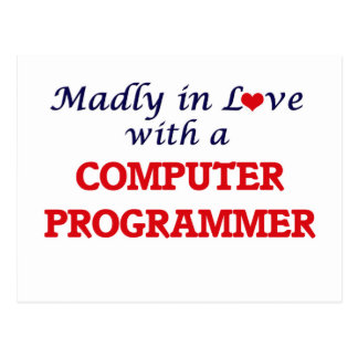 Madly in love with a Computer Programmer Postcard