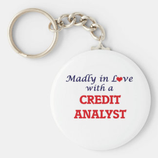 Madly in love with a Credit Analyst Keychain