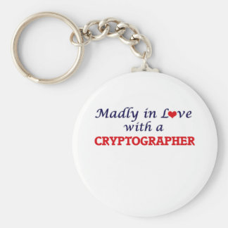 Madly in love with a Cryptographer Keychain