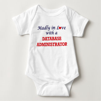 Madly in love with a Database Administrator Baby Bodysuit