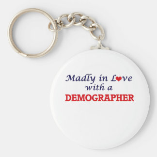 Madly in love with a Demographer Keychain