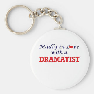 Madly in love with a Dramatist Keychain