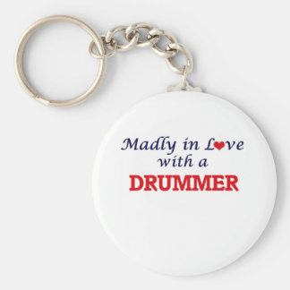 Madly in love with a Drummer Keychain