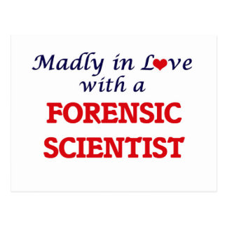 Madly in love with a Forensic Scientist Postcard