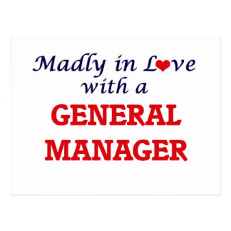 Madly in love with a General Manager Postcard