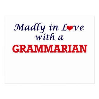 Madly in love with a Grammarian Postcard