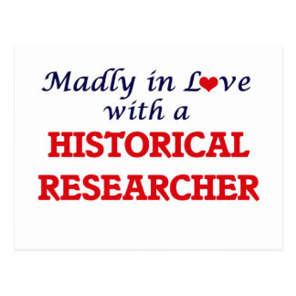 Madly in love with a Historical Researcher Postcard