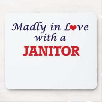 Madly in love with a Janitor Mouse Pad
