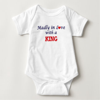 Madly in love with a King Baby Bodysuit